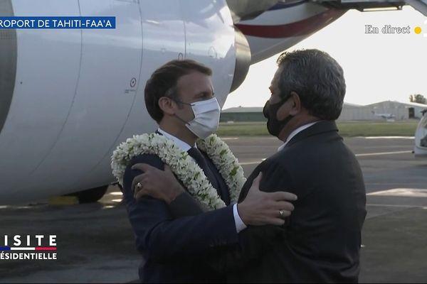 Emmanuel Macron et Edouard Fritch