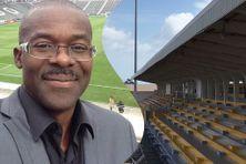 Samuel Péreau, le président de la Ligue de Football de Martinique (LFM) confronté à la fermeture des stades à cause de la pandémie de coronavirus.