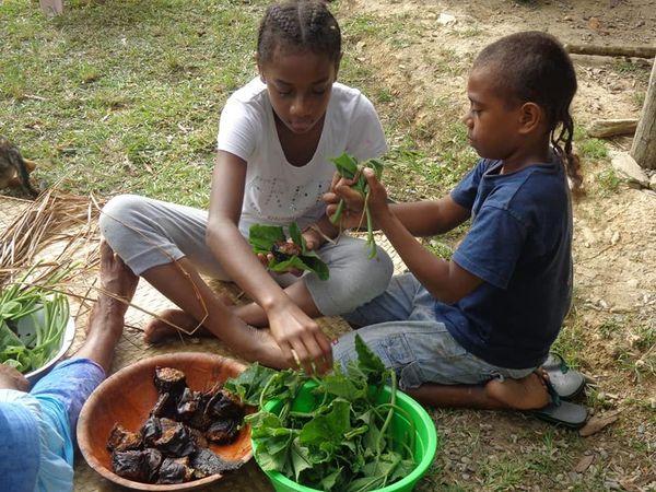 Touho, Poyes, enfants cuisinent