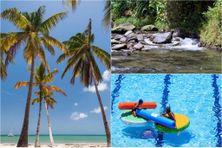 Une plage, une rivière et une piscine publique de Martinique (image d'illustration).