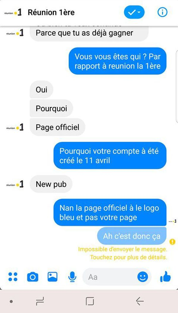 Arnaque FB 2