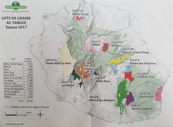 lieux autorisés de chasse