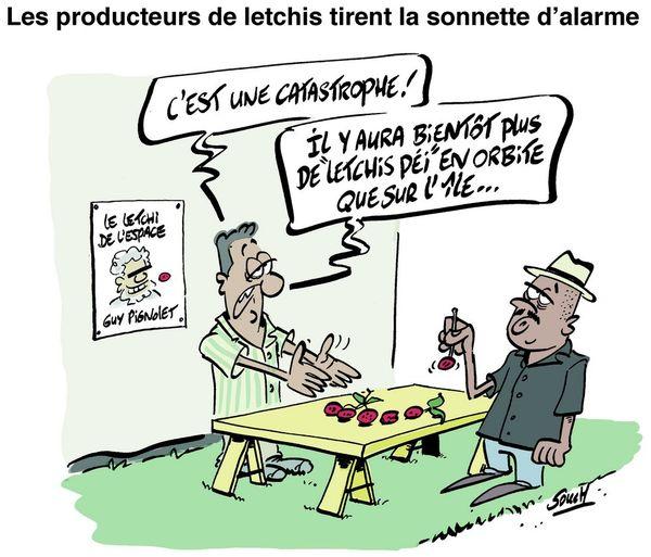 Le dessin de Souch : letchis