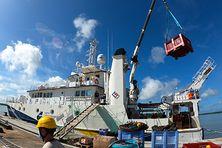 Au départ de Cayenne, l'ANTEA, navire hauturier de la Flotte Océanographique Française, se dirigera vers les eaux brésiliennes et explorera l'embouchure de l'Amazone sur plus de 6 000 km.