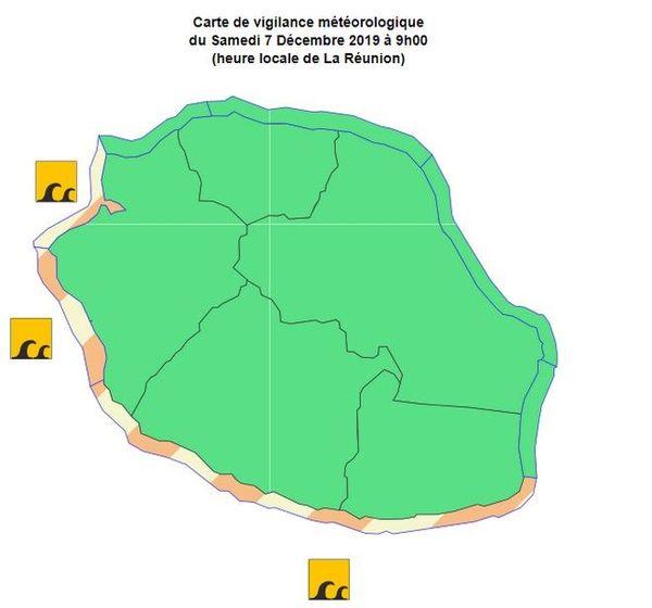 vigilance forte houle ouest et sud 071219
