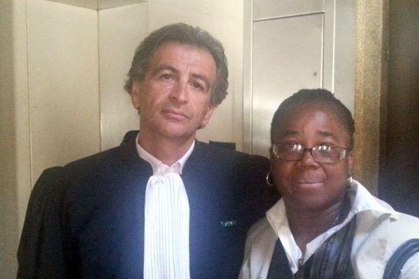 Josette Emile et son avocat Me Zeitoun