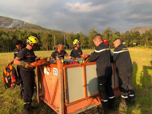 Feu du Mont-Dore, retour des pompiers au troisième jour, 2 décembre 2019