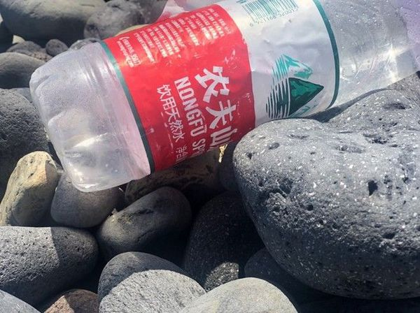 decouverte valise et bouteille littoral Saint-André débris 061219