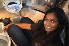 Photo prise dans la capsule Soyouz à la Cité de l´Espace à Toulouse