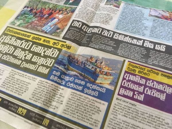 Journaux sri-lankais mars 2019