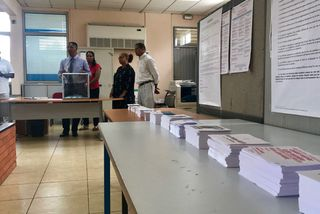 Bureau de vote vide
