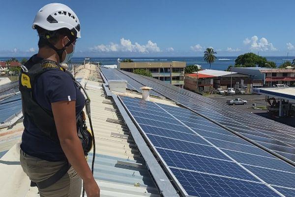 production électrique panneaux photovoltaïques
