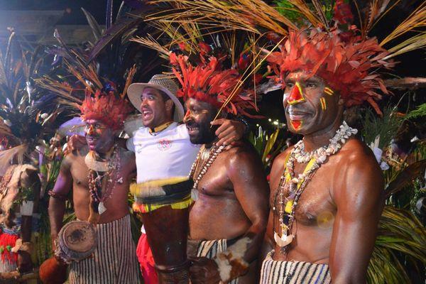 Cérémonie d'ouverture des XVème Jeux du Pacifique 2015 en Papouasie Nouvelle-Guinée