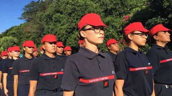 Défilé du 14 juillet : répétition section féminine