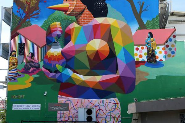 Les artistes de Ono'u 2017 dans les rues de Papeete
