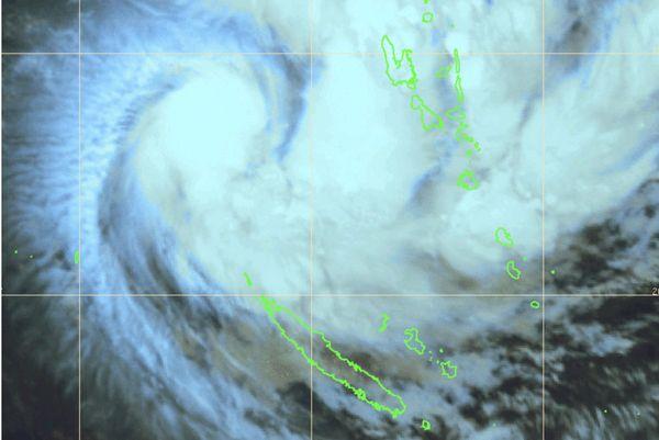 Vue satellite de Uesi lundi 10 février à 6 heures.