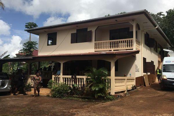 La première maison touchée ce matin