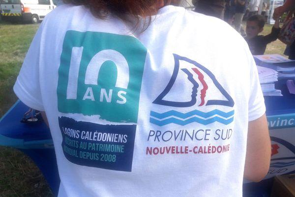 Dix ans d'inscription des lagons au patrimoine mondial: à l'écovillage à l'Anse-Vata, 8 juillet 2018