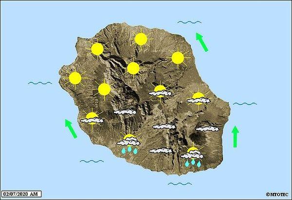 Carte météo 2 juillet 2020