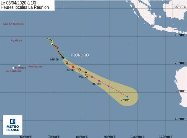 système Irondro forte tempête tropicale 030420