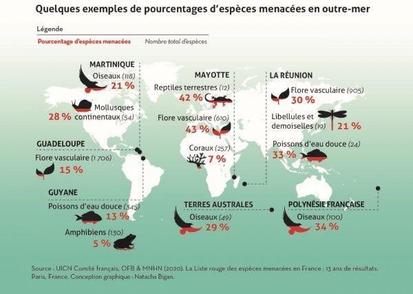 Espèces menacées en Outre-mer