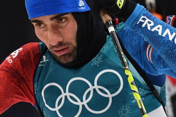Martin Fourcade lors des Jeux olympiques de Pyeongchang (2018)