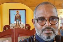 Le Père Jean Denis  Rano, représentant le Patriarcat de Moscou aux Antilles-Guyane et dans la Caraïbe