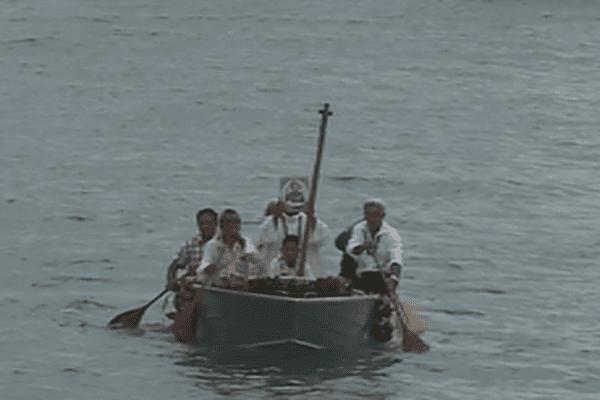 reconstitution de l'arrivée de Saint-Pierre Chanel à Leava, Futunba