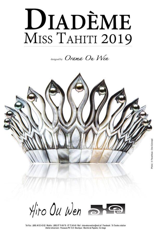 diadème miss tahiti 2019