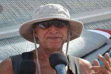 Daniel Ecalard, unique représentant de la Martinique sur la route du rhum à l'arrivée en Guadeloupe