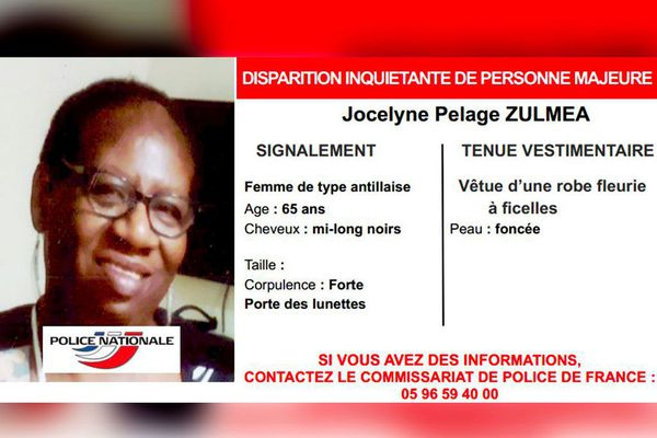 Disparition Jocelyne Pelage Zulméa