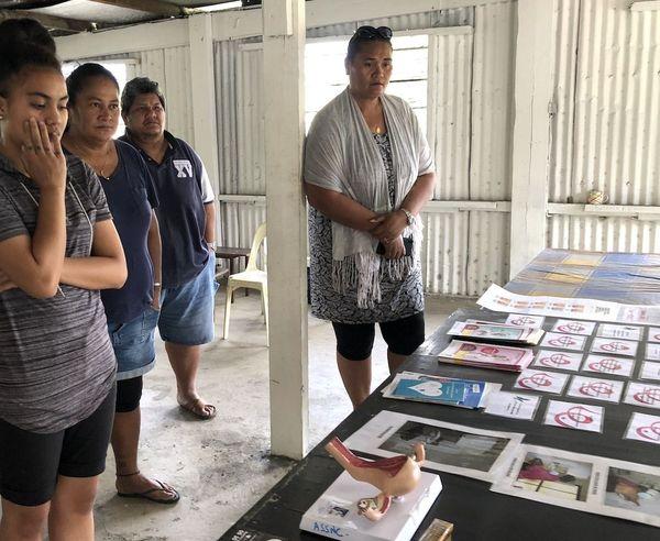 Atelier santé des femmes au squat de la presqu'île océanienne Dumbéa, mai 2020