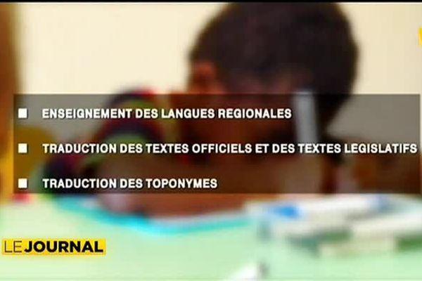 Une charte des langues régionales est en projet