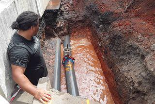 Rupture d'une canalisation à Faa'a