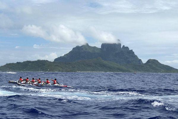 A l'approche de Bora Bora
