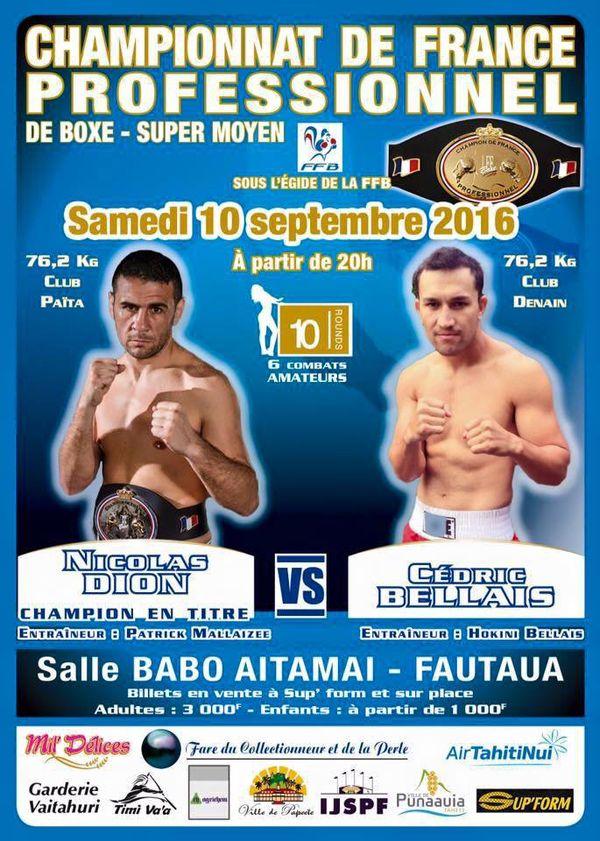 affiche championnat france boxe