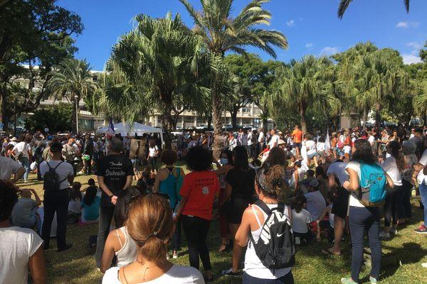 Manifestants anti Pass place préfecture