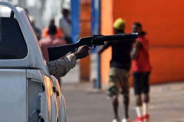 La police haïtienne pendant la manifestation du 15 février 2019 à Port-au-Prince