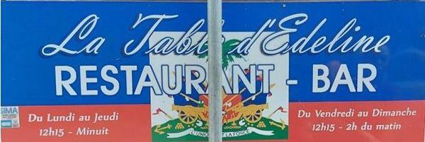 La Table d'Edeline - spécialités haïtiennes - restaurant fermé par la DAAF