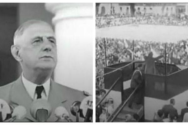 Voyage De Gaulle Guyane 1964