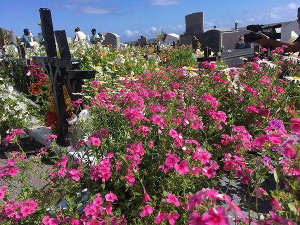 Le cimetière de Sainte-Anne.
