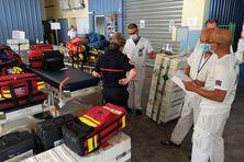 Préparation de réception de deux evasan en provenance de Mayotte