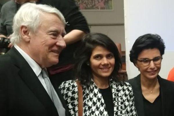 Samia Badat-Karam  avec Claude Goasguen et Rachida Dati.