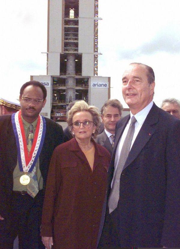 Jacques Chirac  en Guyane, en novembre 1997.