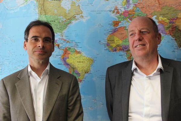 Bernard Landes et Jean-Bernard Deloye, de la société Cyclopharma