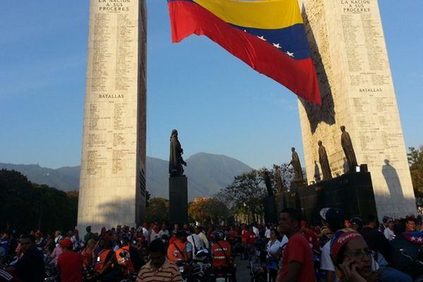 La foule à Caracas