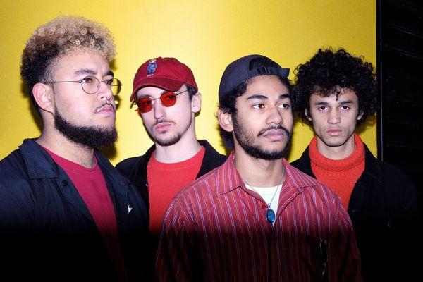 Yann, Vincent, Arnaud et Axel : les quatre musiciens d'Amarula Café Club
