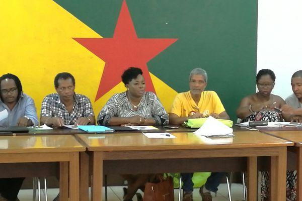 Conférence de presse de la section UTG de al CTG