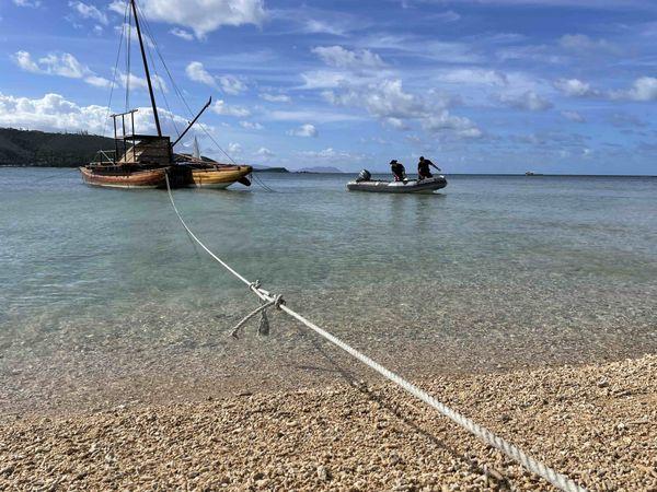 Journée mondiale de l'océan / des océans, île aux Canards, 6 juin 2021, pirogue traditionnelle
