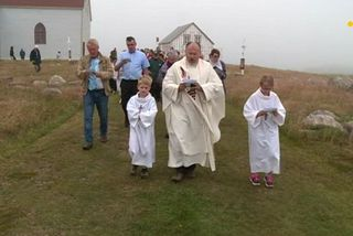 Office religieux à l'île aux marins